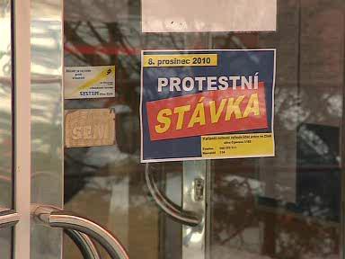 Stávka odborářů ve Zlíně
