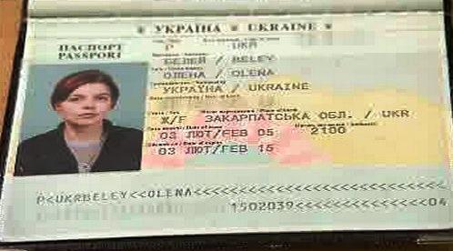 Cestovní pas Oleny Belejové