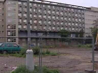 Místo výstavby bytového komplexu Erasmus