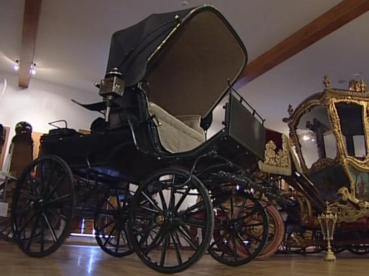 Historický kočár z Popovického pivovaru