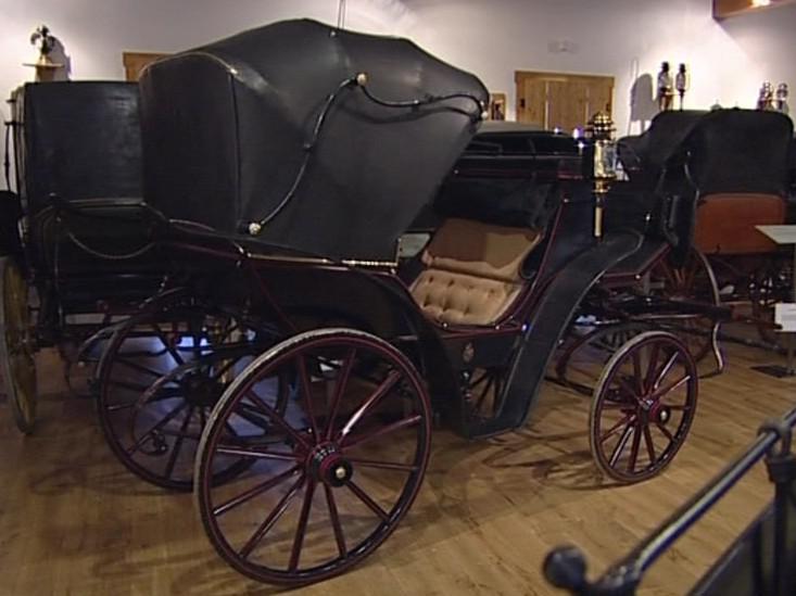 Historický kočár z Buchlova