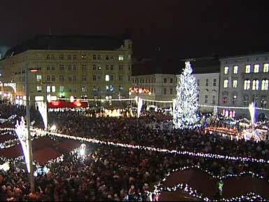 Rozsvícení vánočního stromu na náměstí Svobody v Brně