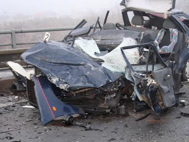 Při tragické nehodě u Kuřimi zahynul řidič felicie