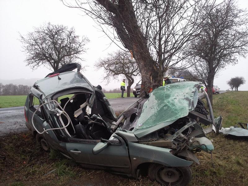 Vážná dopravní nehoda u Lysic