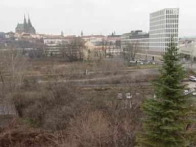 Prostory určené pro výstavbu jižního centra