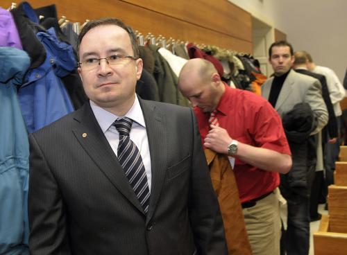 Předseda Dělnické strany Tomáš Vandas