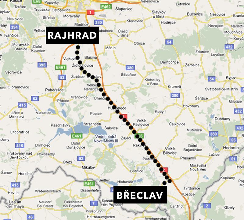 Mýtné se bude vybírat i na silnici mezi Břeclaví a Rajhradem