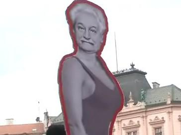 Raklama na Mezinárodní festival Janáček Brno 2010 v centru Brna