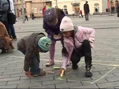 Děti měly z malování největší radost