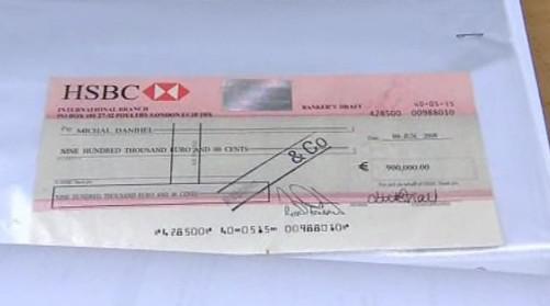 Falešný milionový šek