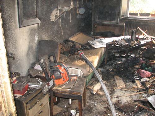 Likvidace požáru v brněnském bytě