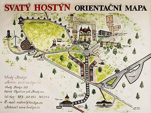 Svatý Hostýn - orientační mapa