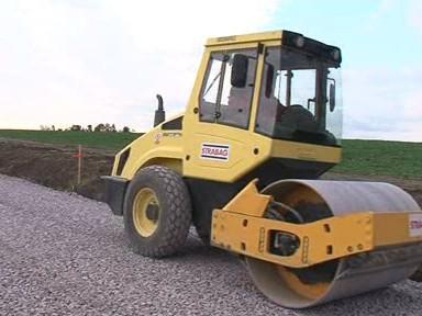 Stavba silnice v Jaroslavicích