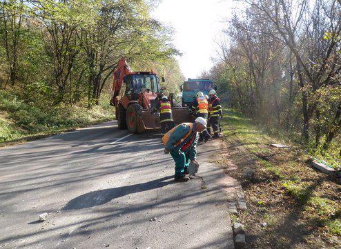 Nehoda kamionu a traktoru v Nosislavi