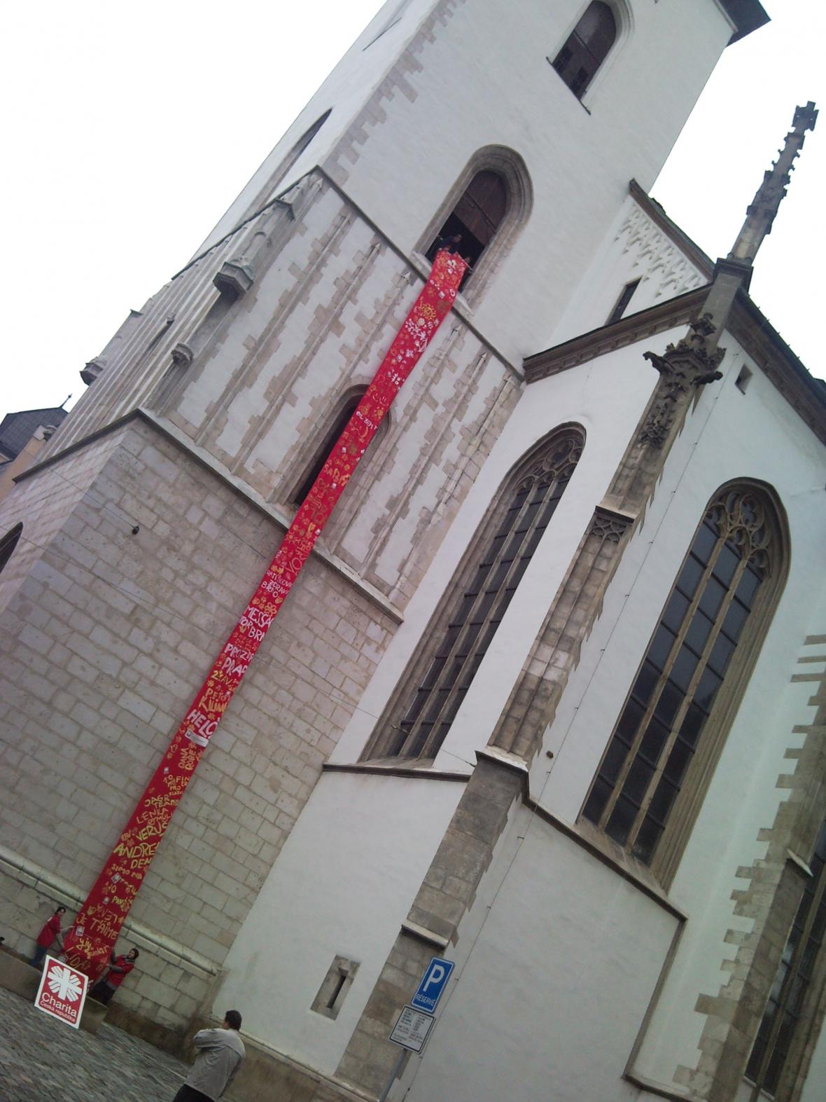 Červená plachta na sv. Jakubovi