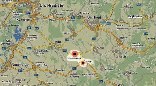 Dolní Němčí a Slavkov - obce na Uherskohradišťsku