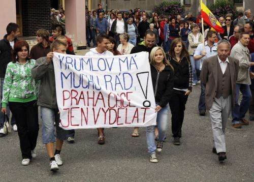 Protest proti stěhování epoje