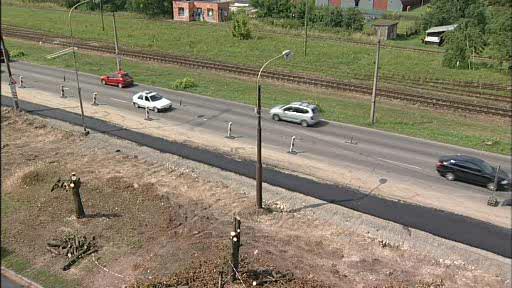 Rozestavěná silnice I/49 mezi Zlínem a Otrokovicemi
