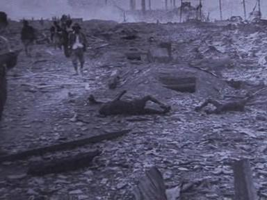 Spoušť po výbuchu atomové bomby