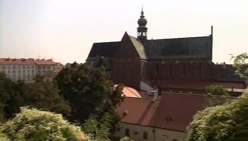 Kostel Nanebevzetí Panny Marie, domaninta dnešního Mendelova náměstí v Brně