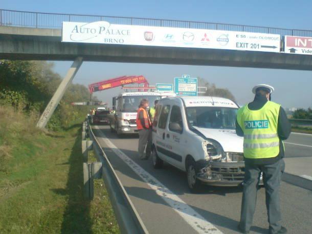 Nehoda na D2 v Brně