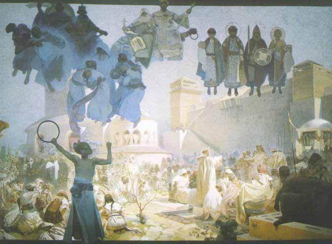 Slovanská epopej - Zavedení slovanské liturgie na Velké Moravě