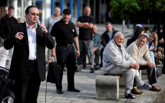 Tomáš Vandas na mítinku DSSS