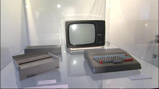 Exponáty na výstavě starých počítačů