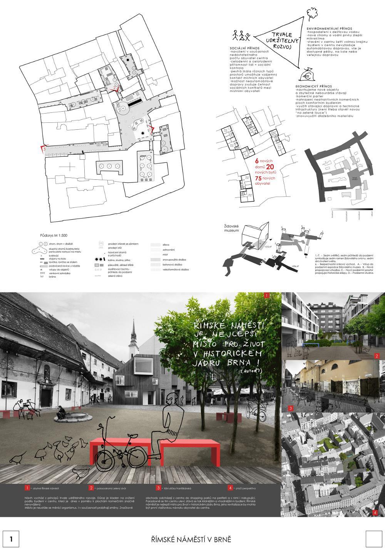 Návrh zaslaný do soutěže o podobu Římského náměstí