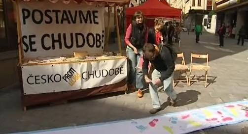 Kapmaň protestující proti chudobě
