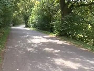 Silnice, na které automobil srazil jedoucího vozíčkáře