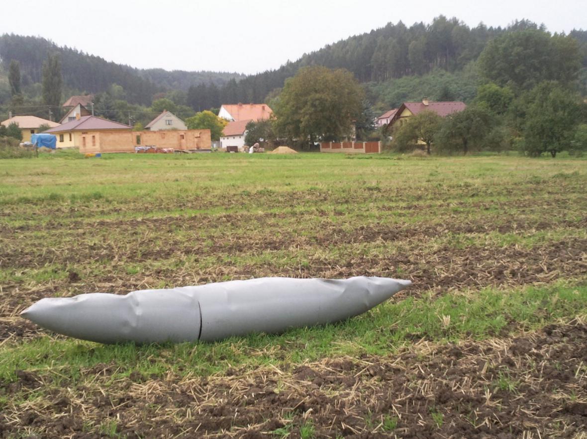 Palivová nádrž v Drnovicích nedaleko Lysic