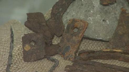 Železné předměty nalezené v kopci Klášťov ve Vizovických vrších