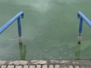 Hladina luhačovické přehrady