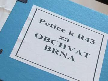 Petici proti takzvané bystrcké trase R43 podepsalo více než 37 tisíc lidí
