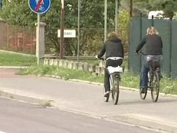 Úsek cyklostezky v Uherském Hradišti