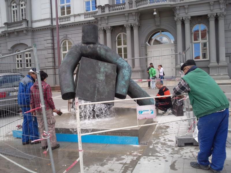 Socha Spravedlnosti na Moravském náměstí v Brně