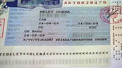 Výjezdní příkaz Oleny Belejové