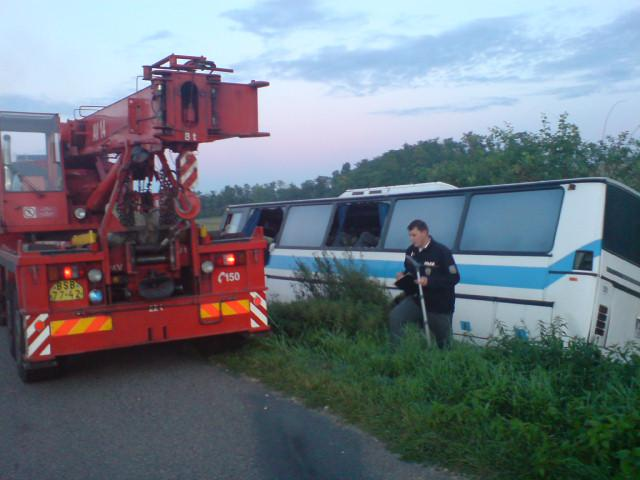 V Silůvkách na Brněnsku vpodvečer havaroval autobus