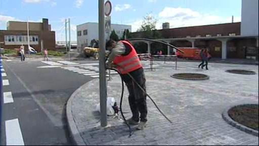 Finální práce na autobusovém terminálu ve Znojmě