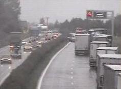 Aktuální dopravní situace na dálnici D1 v místě nehody