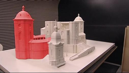 Model konečné podoby chrámu po dostavbě