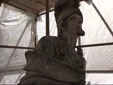 Restaurovaná socha sv. Floriana