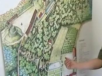 Mapa zahrad na hradě Pernštejn
