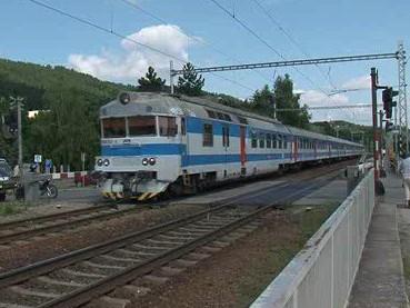 Železniční přejezd v Blansku