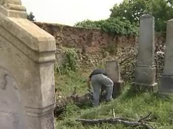 Cizinci pečují o židovský hřbitov v Holešově