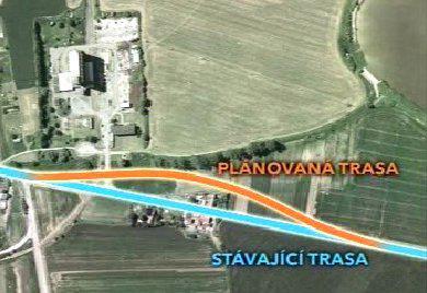 Plán na výstavbu nové silnice k lihovaru