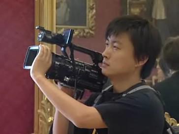 Čínští filmaři na zámku v Kroměříži