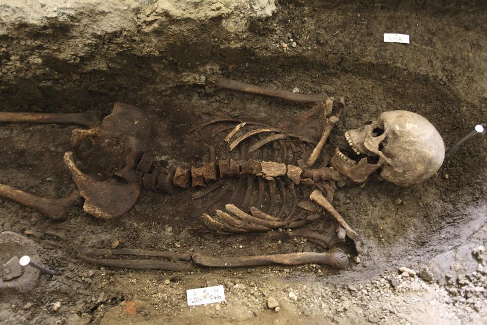 Nález kostry ve Velehradu