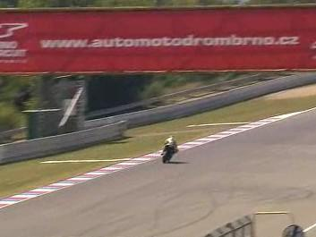 Valentino Rossi testoval na okruhu v Brně